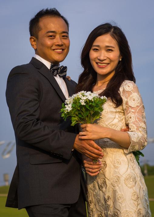 North korean defector joseph park with his south korean fiancee called juyeon, Sudogwon, Paju, South korea