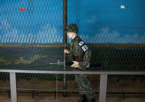 Soldier dummy in the third infiltration tunnel, North Hwanghae Province, Panmunjom, South Korea