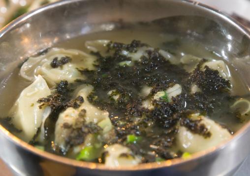 Korean mandu dumplings  soup, National Capital Area, Seoul, South Korea