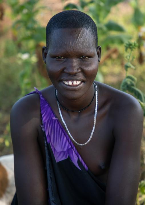 Portrait of a Mundari tribe woman, Central Equatoria, Terekeka, South Sudan