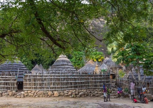 Lotuko tribe village with thatched houses, Central Equatoria, Illeu, South Sudan