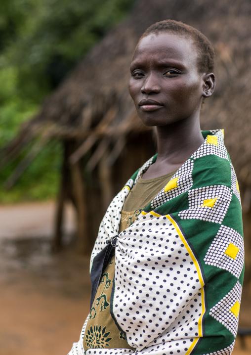 Portrait of a Larim tribe woman, Boya Mountains, Imatong, South Sudan