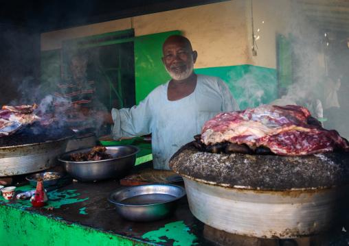 Meat cooked on heated stones, Kassala State, Kassala, Sudan