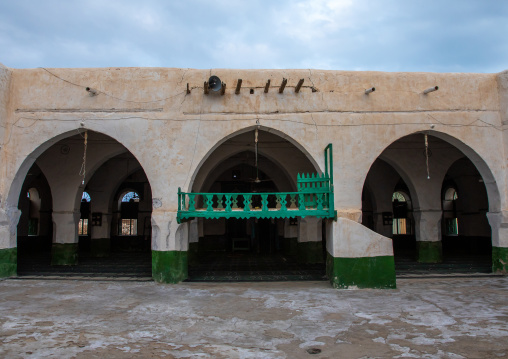 El-Geyf mosque prayer hall, Red Sea State, Suakin, Sudan