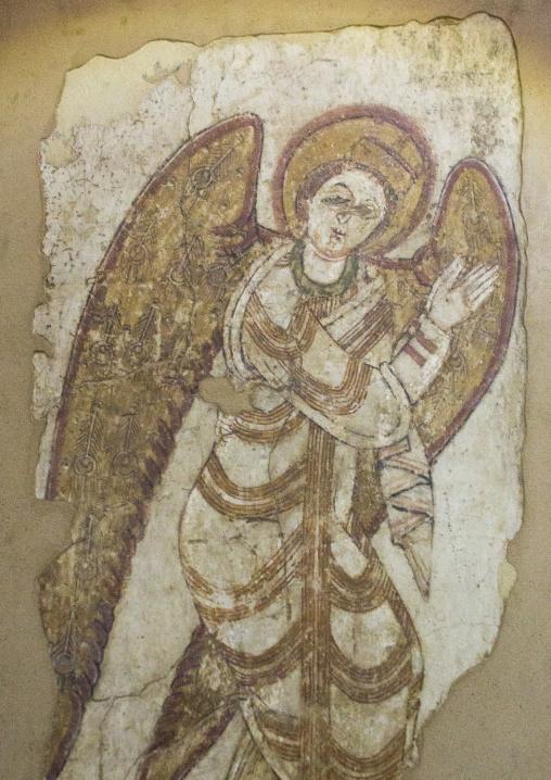 Sudan, Khartoum State, Khartoum, archangel michael from petros cathedral, faras, in the national museum of sudan