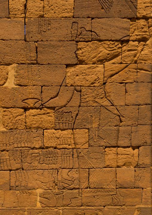 Sudan, Nubia, Naga, the relief of queen amanitore