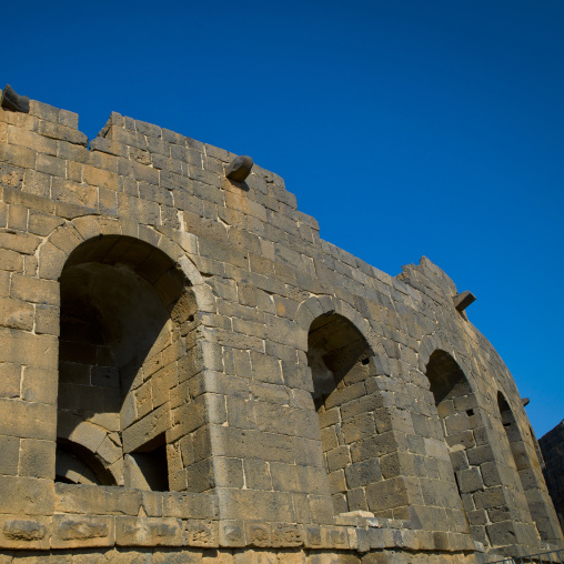 Roman Amphitheatre Stage, Bosra, Daraa Governorate, Syria