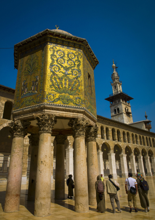 The Dome Of The Treasury In Umayyad Mosque Courtyard, Damascus, Damascus Governorate, Syria