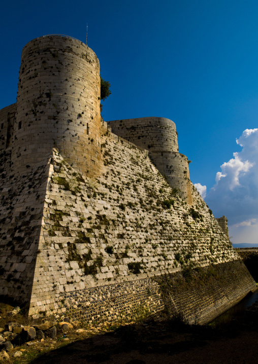 The Walls And Moat Of Krac Des Chevaliers, Homs, Homs Governorate, Syria