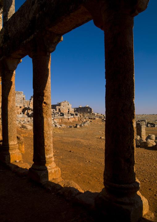 Columns In Dead City, Serjilla, Idlib Governorate, Syria