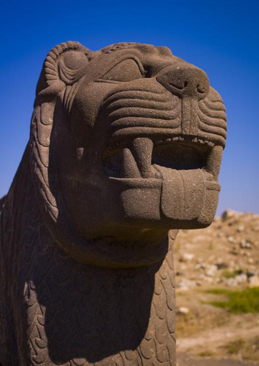 Massive Basalt Hittite Lion Carving, Hama, Hama Governorate, Syria