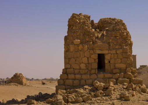 Eggelin Tomb Tower In The Ancient Roman City, Palmyra, Syrian Desert, Syria