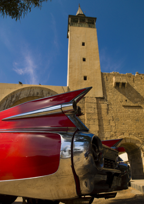 Old American Car In Front Of Bab Sharqi, Damascus, Damascus Governorate, Syria