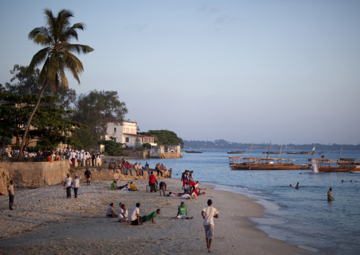 Zanzibar activity  at sunset, Tanzania