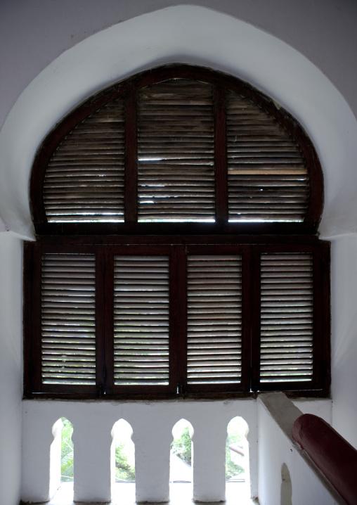 Arabic style window in stone town zanzibar, Tanzania