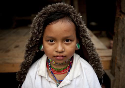 Big ears little girl, Ban nai soiy village, Thailand