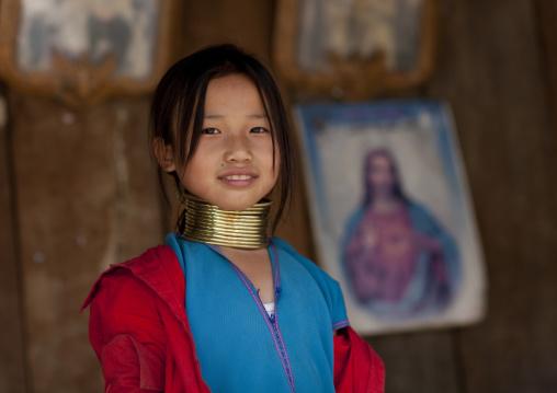 Miss muko, Karen long neck girl, Nam peang din village, Thailand