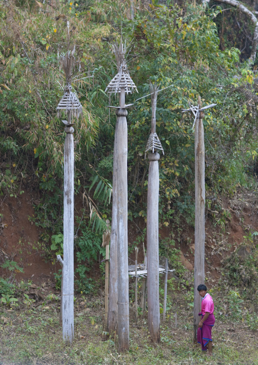 Tonpee totems, Karen tribe. mae soi-u karen village, Thailand