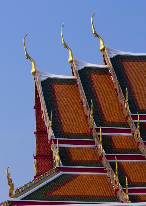 Temple roofs, Bangkok, Thailand