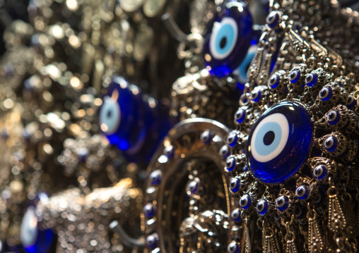 Evil eye amulet for sale in the grand bazaar, Beyazit, istanbul, Turkey