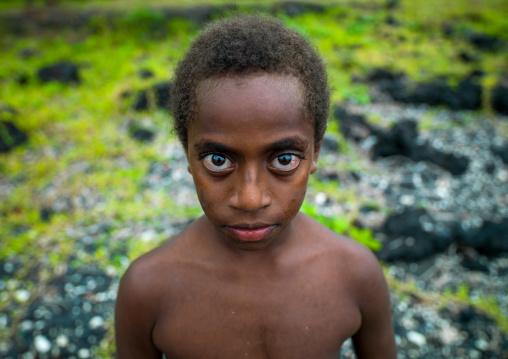 Portrait of a child with Big eyes, Malampa Province, Ambrym island, Vanuatu