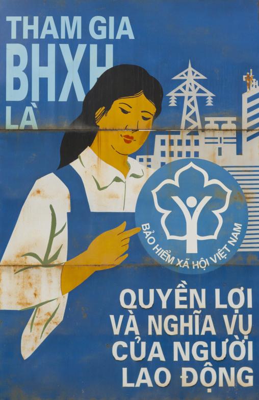 Propaganda poster , Hanoi, Vietnam