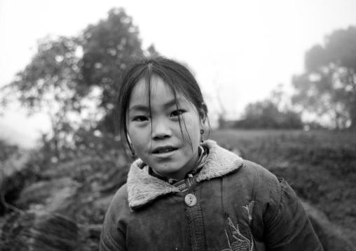 Girl of the flower hmong minority, Sapa, Vietnam