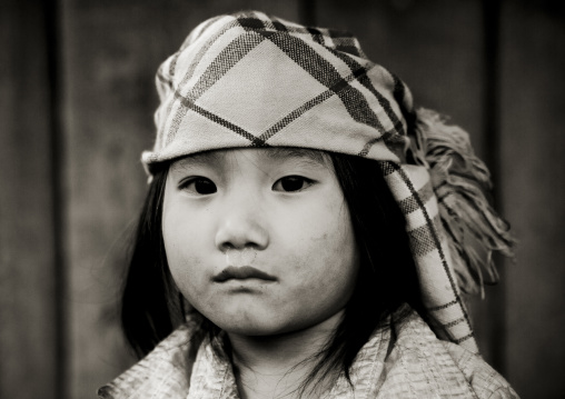 Young flower hmong girl with a headscarf, Sapa, Vietnam
