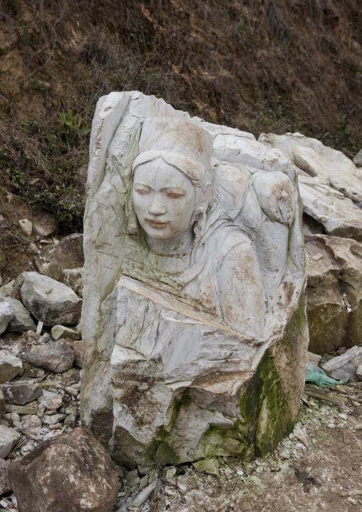 Sculpture of a woman, Sapa, Vietnam