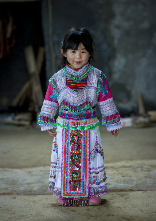 Hmong girl in traditional dress, Sapa, Vietnam