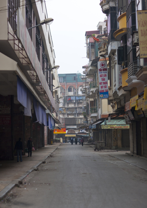 Empty street during tet day in hanoi, Vietnam