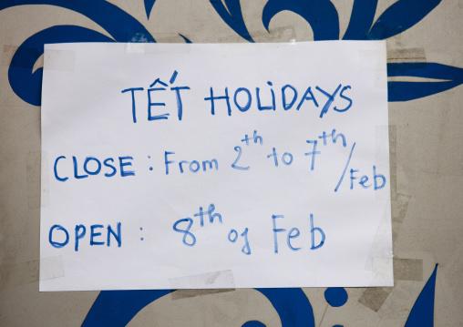 Shop closed because of the tet holidays, Sapa, Vietnam