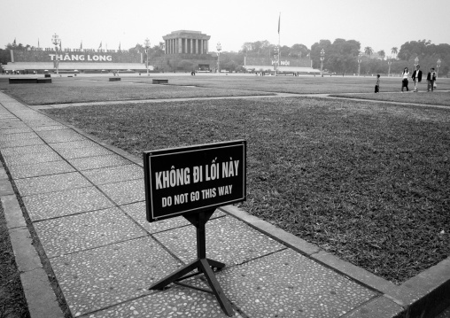 Sign on ba dinh square, Hanoi, Vietnam
