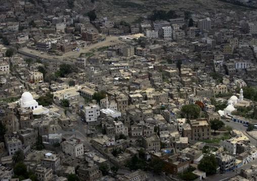 Overview Of White Taiz Mosques And Of The City, Taiz, Yemen