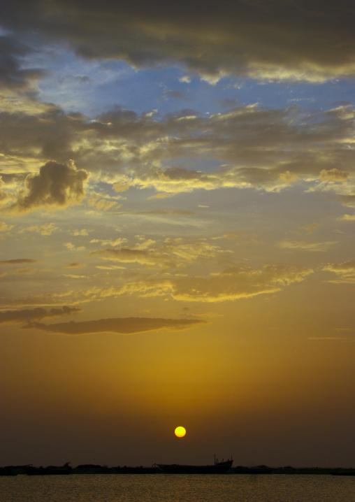 Amazing Sunset On The Red Sea In Al Khukaha, Yemen