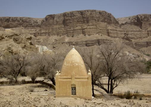 Muslim Tomb Down The Cliff, Wadi Doan, Yemen