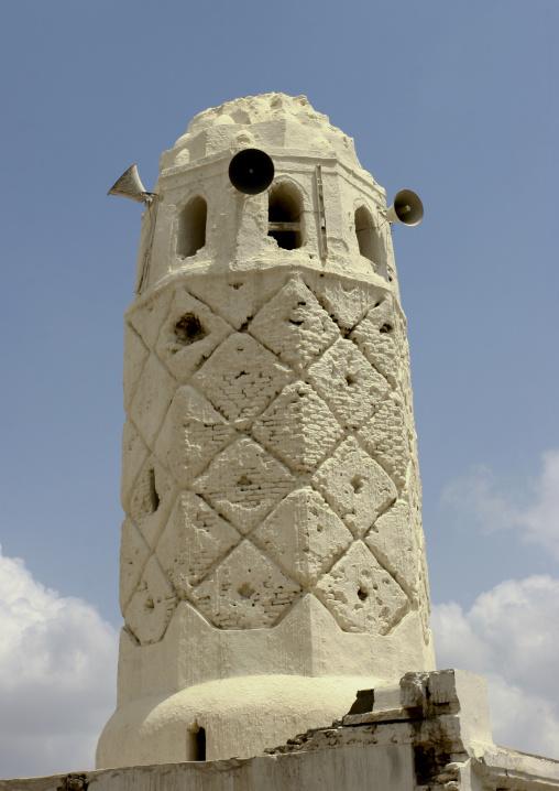 Sculpted Minaret Of A Mosque In Zabid, Yemen