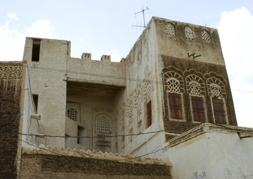 Sculpted Front Of A House In Zabid, Yemen