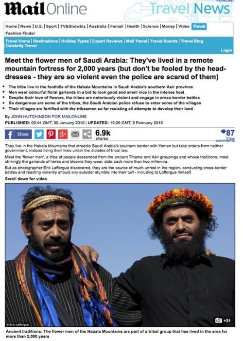 Daily Mail - Flower men