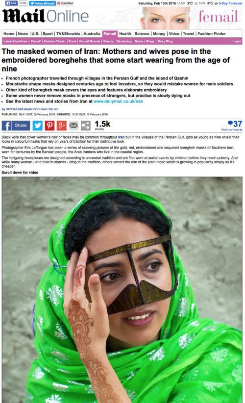 Daily Mail - Masks of Iran