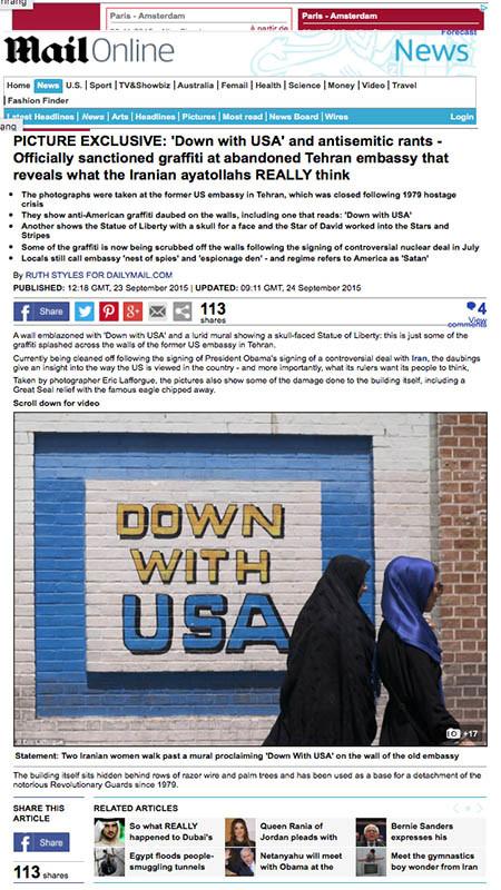 Daily Mail - Iran and USA