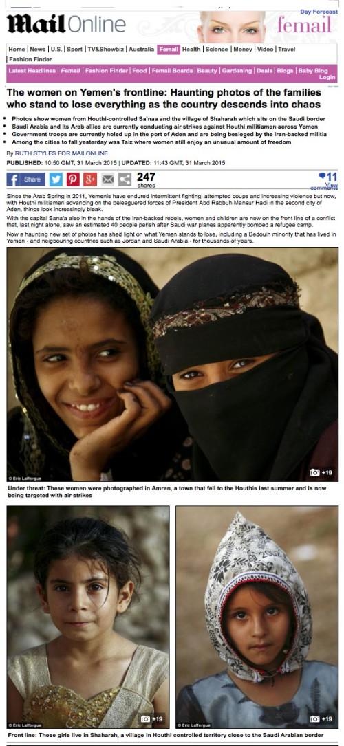 Daily Mail - Yemeni women