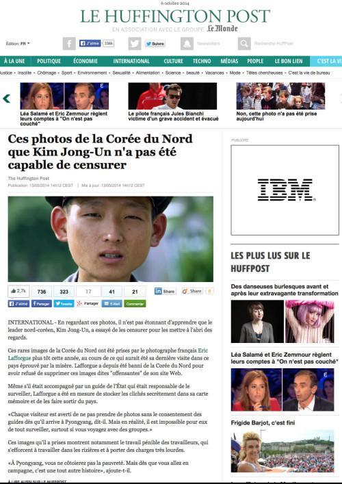 Le Huffington Post - North Korea