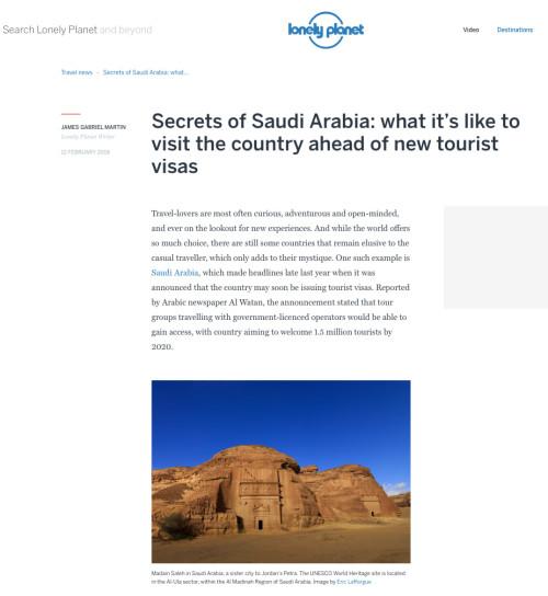 Lonely Planet Magazine - KSA