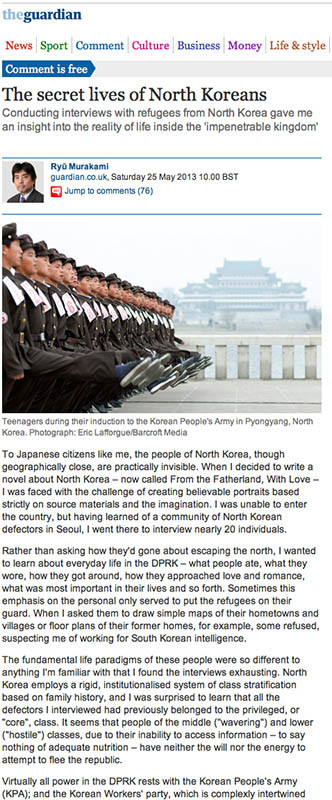 The Guardian - Lives of NK